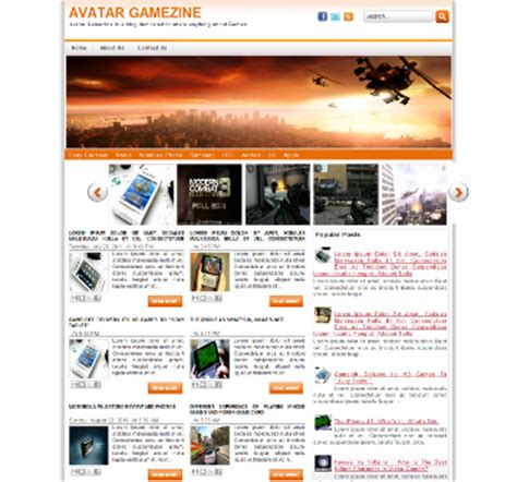 theme blog xml avatar gamezine template blogger templates 2013
