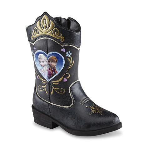 frozen boots disney toddler s frozen black gold blue cowboy boot