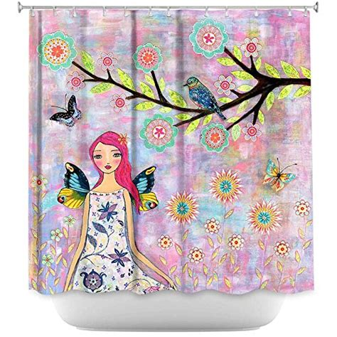 fairy shower curtain fairy shower curtains are magical and intriguing