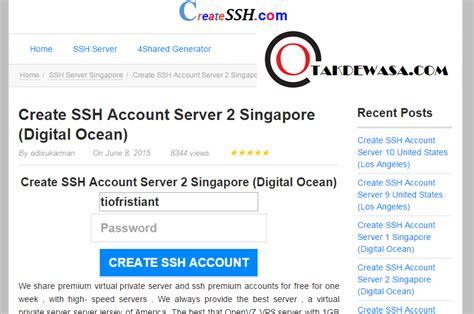 cara membuat akun vps premium 3 website baru penyedia akun ssh dan vpn premium gratis