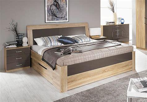 bett 180x200 modern bett arona futonbett in sonoma eiche und lava hochglanz