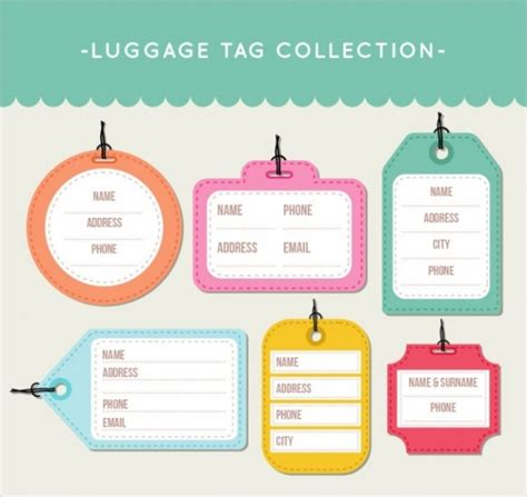 luggage tag designs psd vector eps jpg