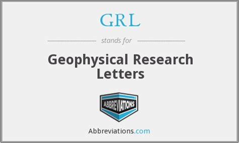 Geophysical Research Letter Abbreviation grl geophysical research letters