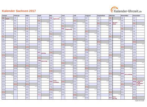 Kalender 2018 Mit Feiertagen Sachsen Feiertage 2017 Sachsen Kalender