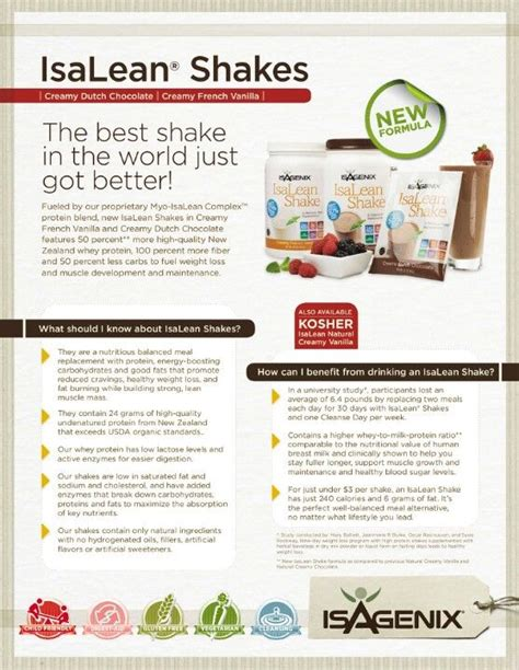 10 Day Detox Shake Calories by 17 Best Images About Isagenix On Protein