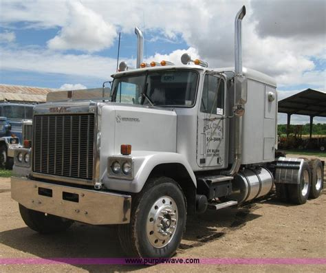 gmc semi truck 1985 gmc general semi truck no reserve auction on