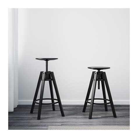 sgabello alto ikea dalfred bar stool black 63 74 cm ikea