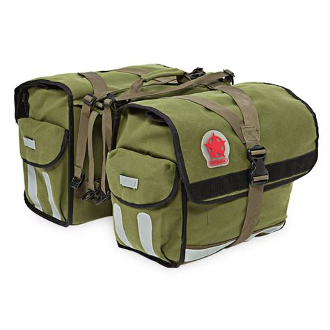 Stripie 2 In 1 durable 2 in 1 water repellent bicycle rear pannier bag