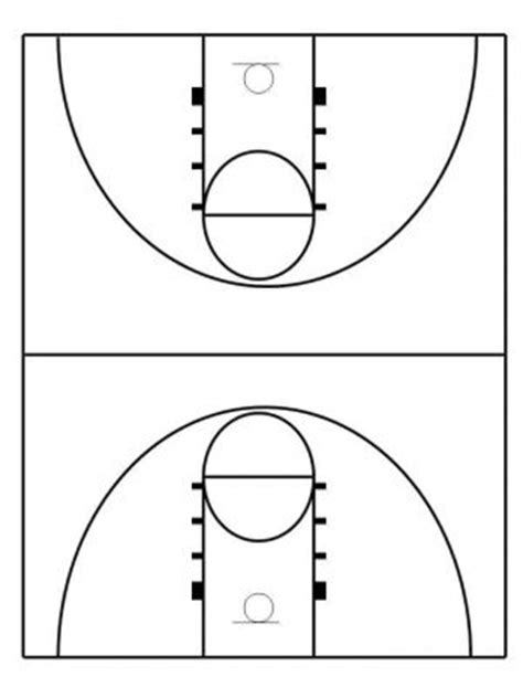 Tips To Make Your Own Basketball Court Stencils Layouts Dimensions Basketball Lines Template