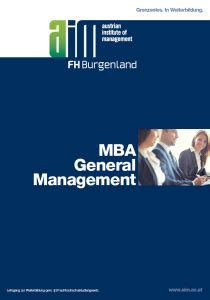 Mba General Management Scope by Mba General Management E Learning Consulting