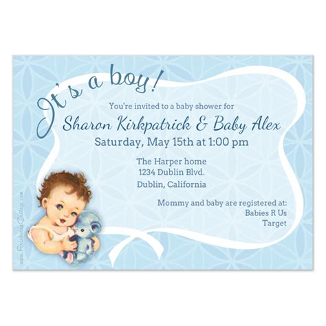 it s a wonderful card template it s a boy invitations cards on pingg