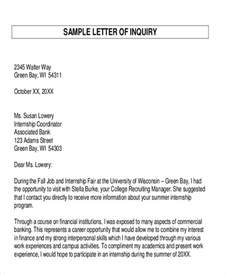 inquiry letter sle solicited definition reply to inquiry letters letter sle