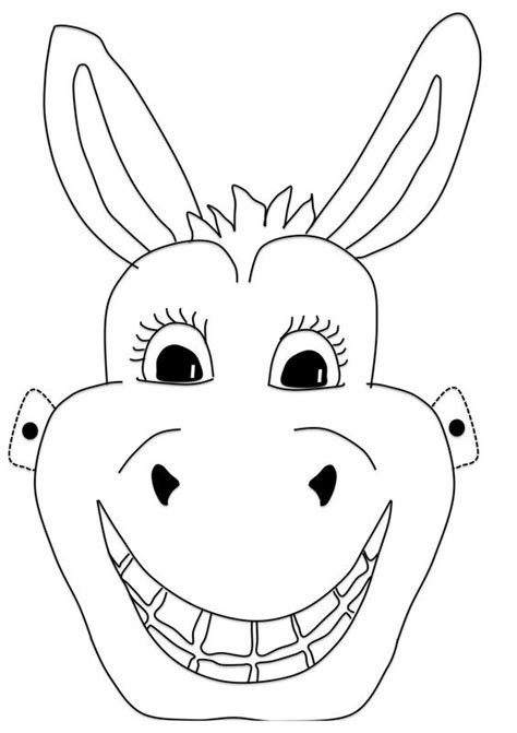 donkey mask   printable template