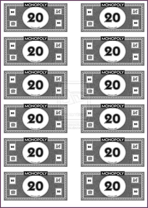 monopoly money templates printable monopoly money monopoly money template printable