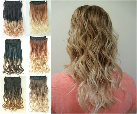 Hair Clip Ombre Curly clip in ombre hair extensions one curly