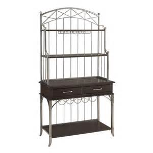 Baker Racks Shop Home Styles Bordeaux Espresso Rectangular Bakers Rack