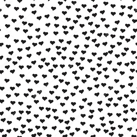 black and white heart pattern wallpaper romantic seamless pattern with tiny black hearts abstract