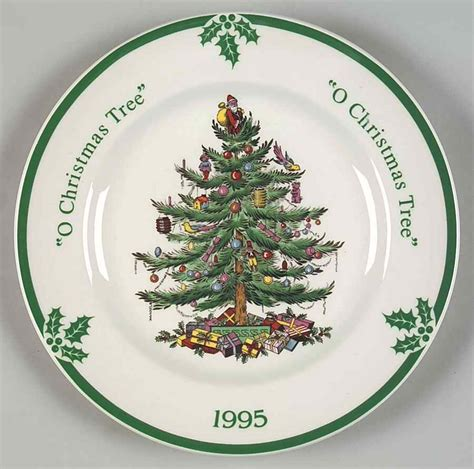 spode christmas tree green trim pattern spode christmas tree green trim 1995 collector plate