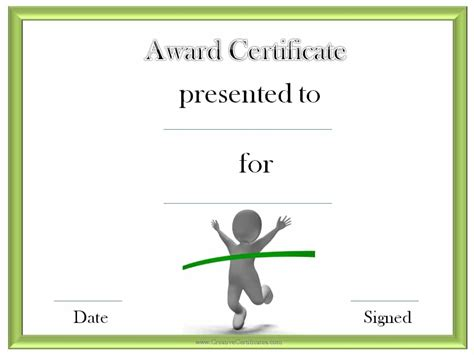 Running Certificate Templates track and field certificate templates free customizable