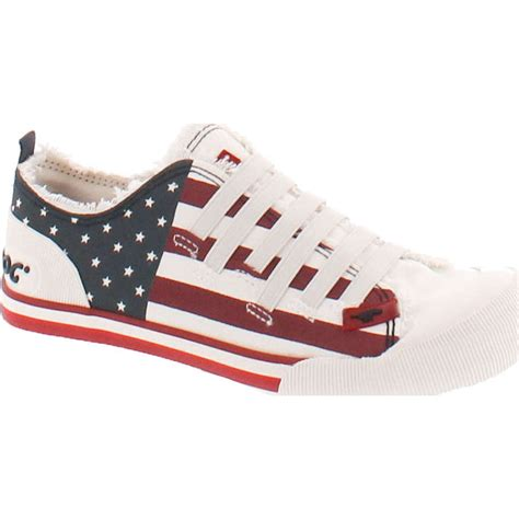 rocket womens joint usa flag patriotic fashion sneakers