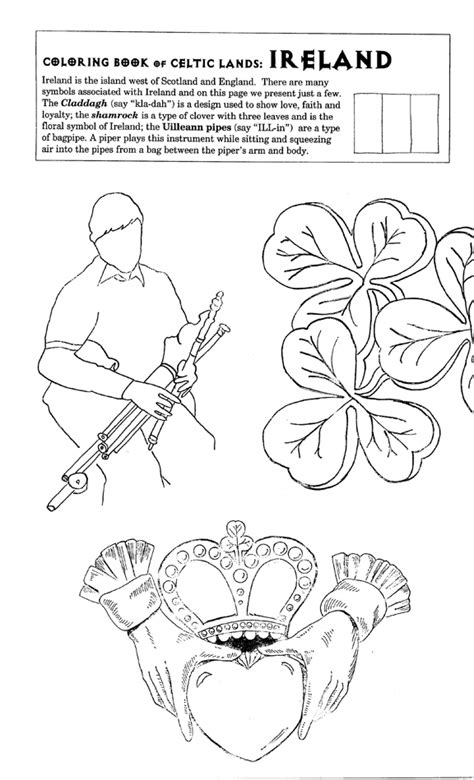 ireland coloring pages flag clr gif 500 215 487 scouts world thinking day 2013