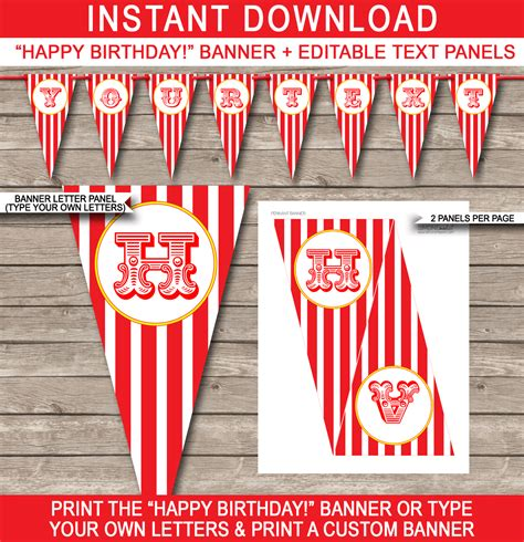 50th birthday banner template carnival banner template banner template