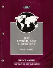 car engine repair manual 1997 ford f series electronic throttle control 1997 ford f 250 hd f 350 f super duty service manual 2 volume set