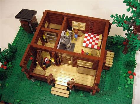 lego log cabin lego ideas log cabin two seasons lego