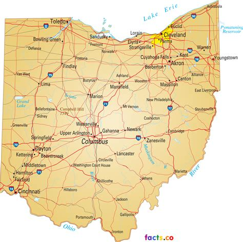 map of ohio rivers and cities ohio map blank political ohio map with cities