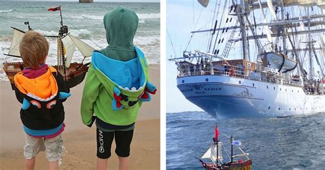 toy boat sails to norway playmobil pirate ship set sail by scottish kids now
