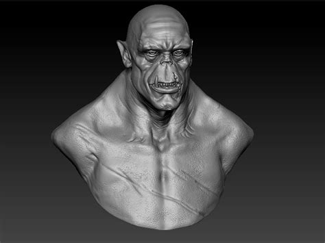 zbrush orc tutorial orc zbrush bust 3d model sharecg