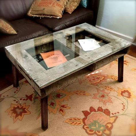 Diy Glass Top Coffee Table Pallet Coffee Table With Glass Top Pallet Furniture Diy
