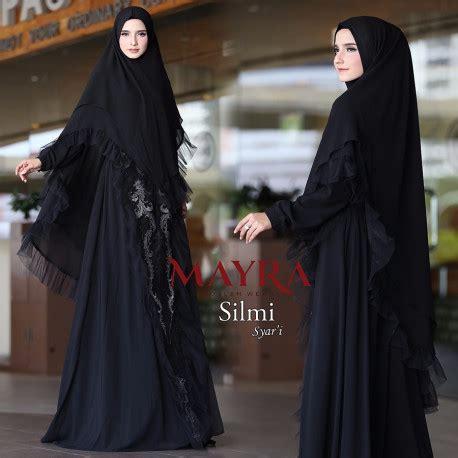 Mayra Black Syari silmi black pusat grosir baju muslim
