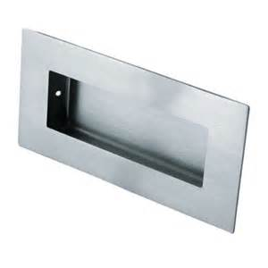 Details about flush pull handle recessed grab sliding door stainless