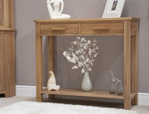 Hallway Console Table Eton Solid Oak Modern Furniture Hallway Console Table Ebay