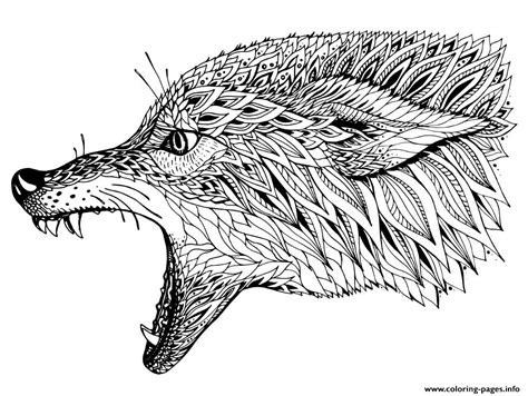 print wolf zen coloring pages colowing pinterest