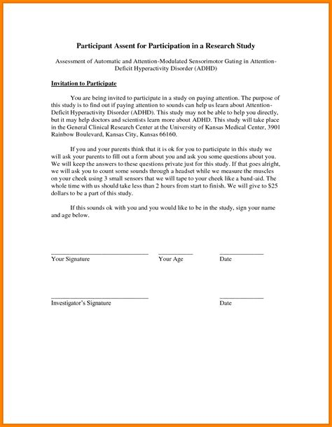 consent letter in 14 free printable child consent form letter