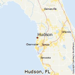 hudson florida map best places to live in hudson florida