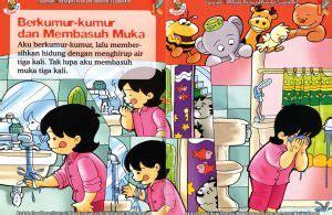 Buku Paud Dan Tk Seri Aku Senang Zikrul Hakim Bestari bagaimana aku berkumur kumur dan basuh muka saat wudhu ebook anak