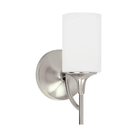Brushed Nickel Sconce Lighting Sea Gull Lighting Stirling 1 Light Brushed Nickel Sconce