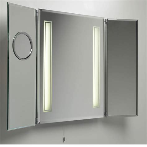 Mirrored Bathroom Cabinet With Light | bathroom medicine cabinet with mirror and lights decor