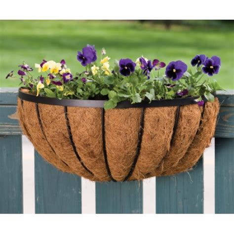 panacea half wall planter