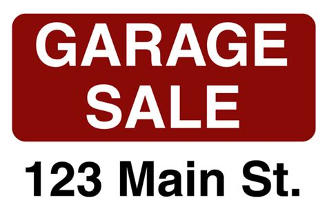 Custom Garage Sale Signs by Plastic Yard Sign Designs