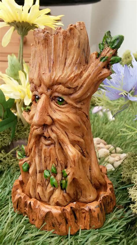 tree incense burner green man fairygardensukcouk