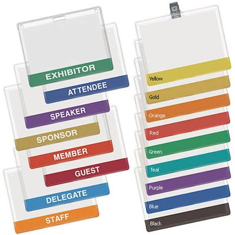 the color badge badge holder stock color bottom
