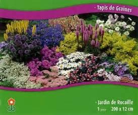 tapis de graines jardin de rocaille les graines bocquet