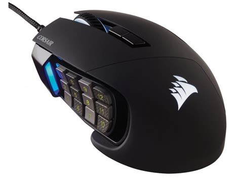 Mouse Gaming corsair ch 9000231 scimitar rgb black moba mmo optical gaming mouse wootware