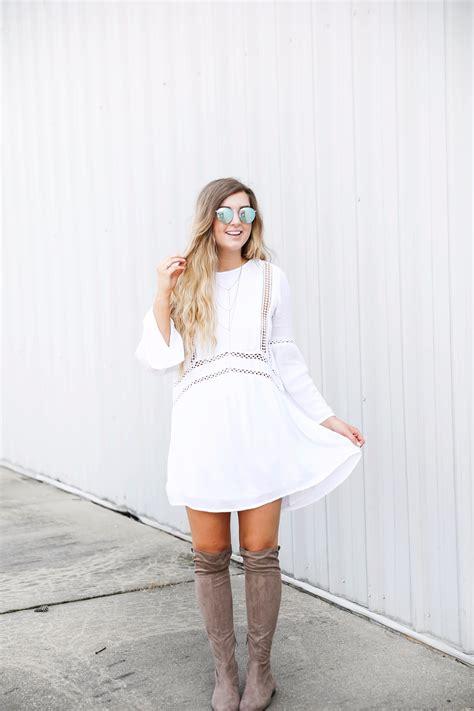white boho dress ootd daily dose of charm