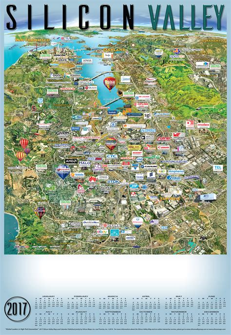 map of valley 2017 silicon valley silicon maps
