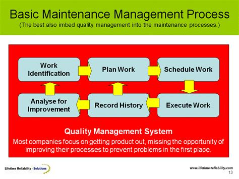 maintenance workflow process how to design a maintenance work planning process